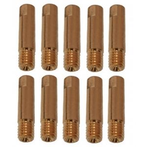 10 tubetti di contatto TRAFIMET per acciaio-acciaio inox filettatura M6