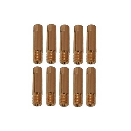 10 tubetti di contatto per saldatura alluminio M6