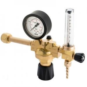 Riduttore di pressione con colonnina per bombola ricaricabile