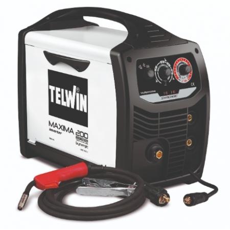 TELWIN Maxima 200 Synergic | Saldatrice Multiprocesso (MMA, MIG MAG, TIG)