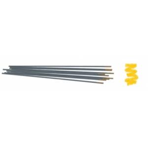 10 elettrodi Tungsteno Lantanio ORO per saldatura TIG universale, lunghezza 175 mm