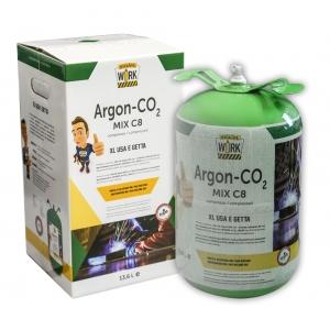 Bombola gas a perdere ARGON + CO² 14 litri saldatura acciaio